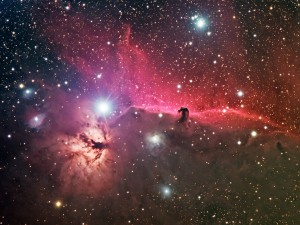 B33 Horsehead and NGC2024 Flame Nebulae
