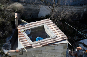 Roof almost tiled